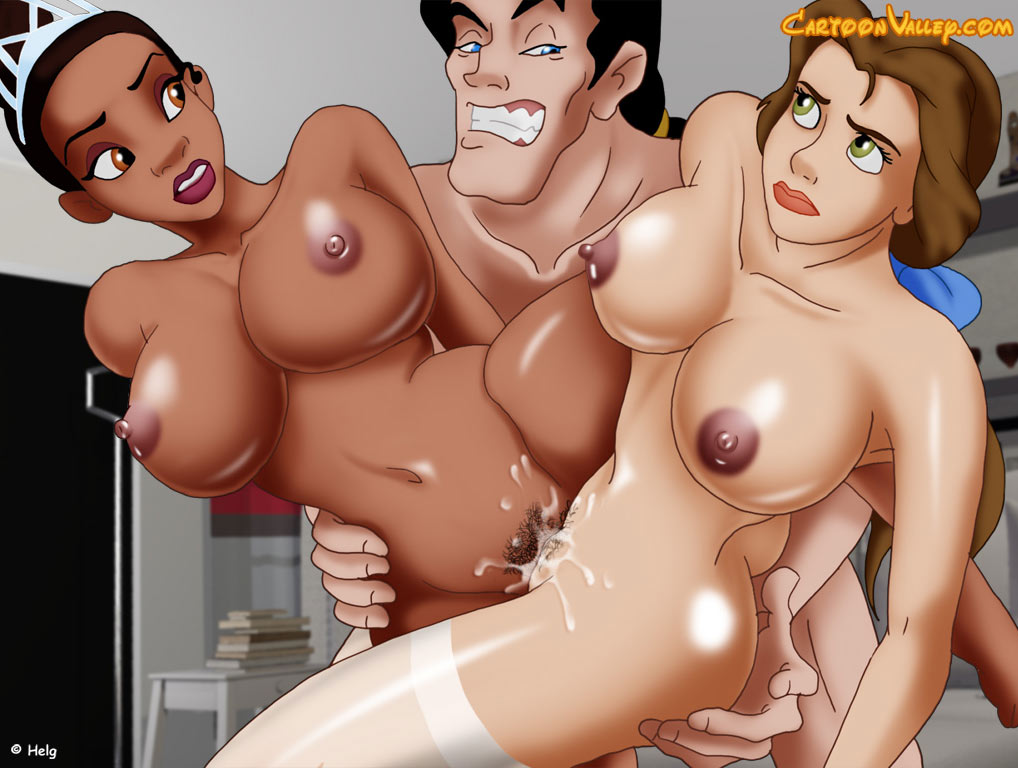 Disney Sex Threesome With The Disney Princesses Porn Cartoons-9250