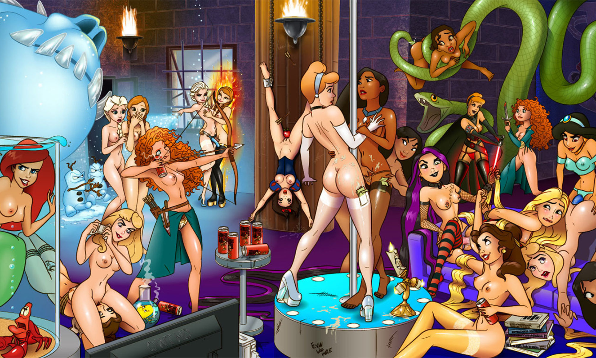 Disney sex cartoons: exclusive Disney porn and cartoon sex